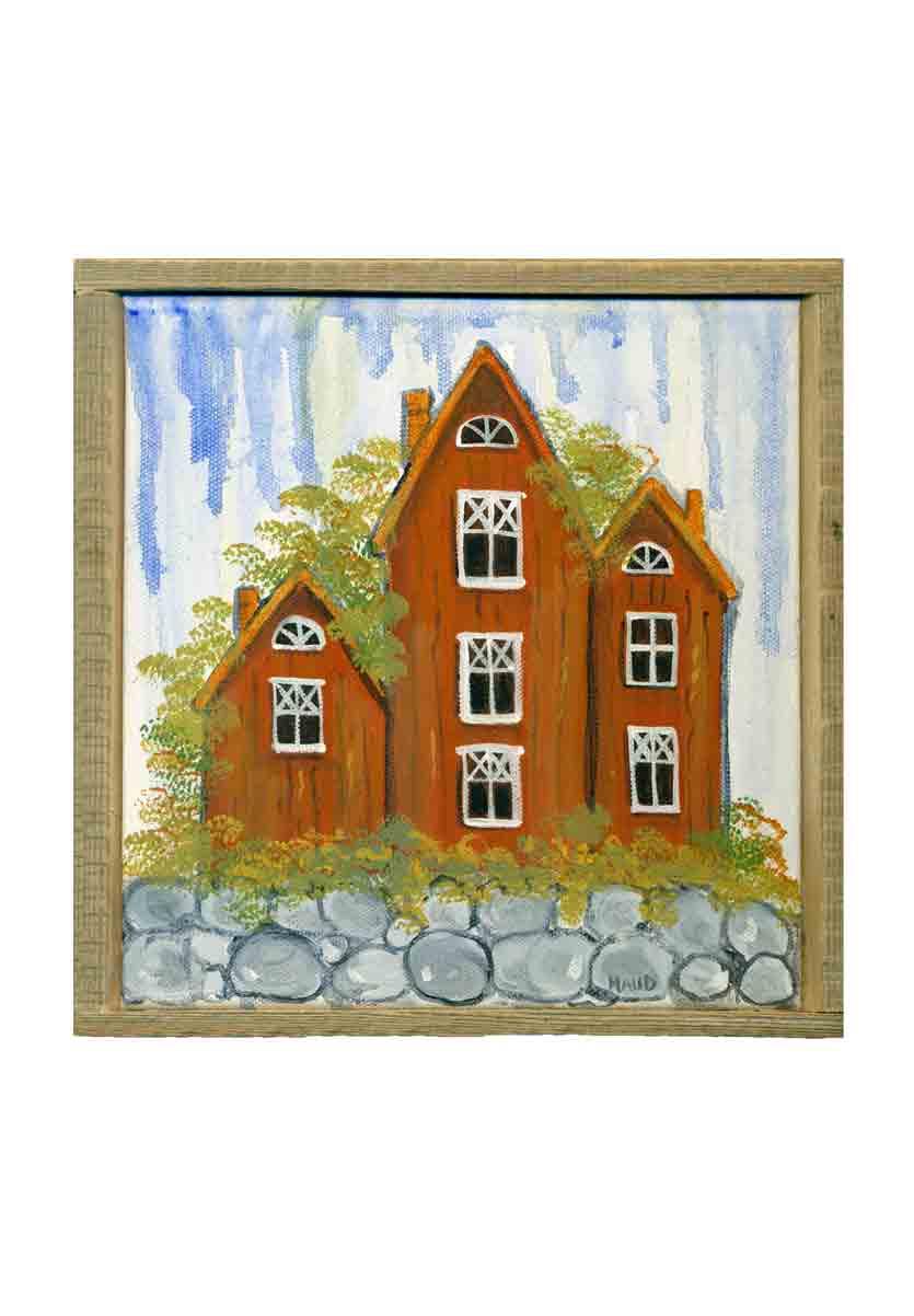 Schilderijtjes op doek en meer unieke zweedse producten for Schilderij huis voorgerecht
