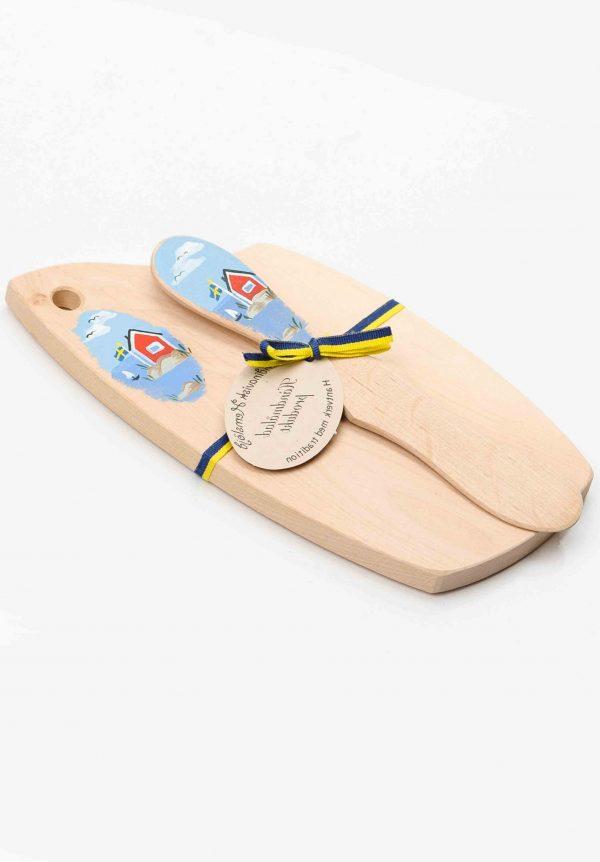wooden butter ham board