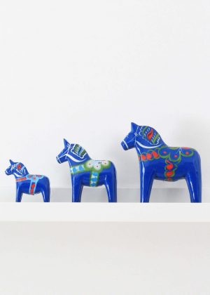 Blue dala horse till salu