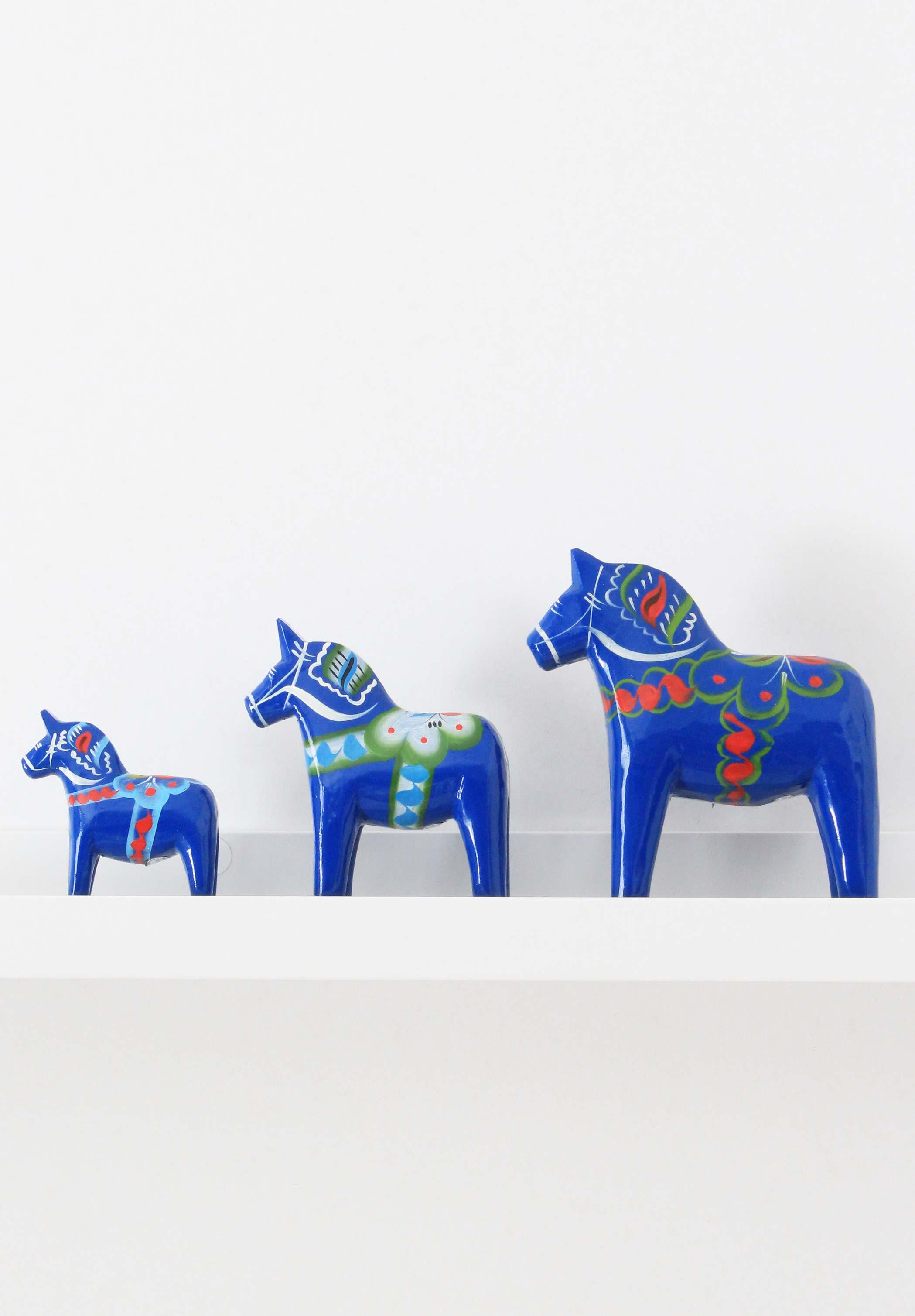 Blue dala horse