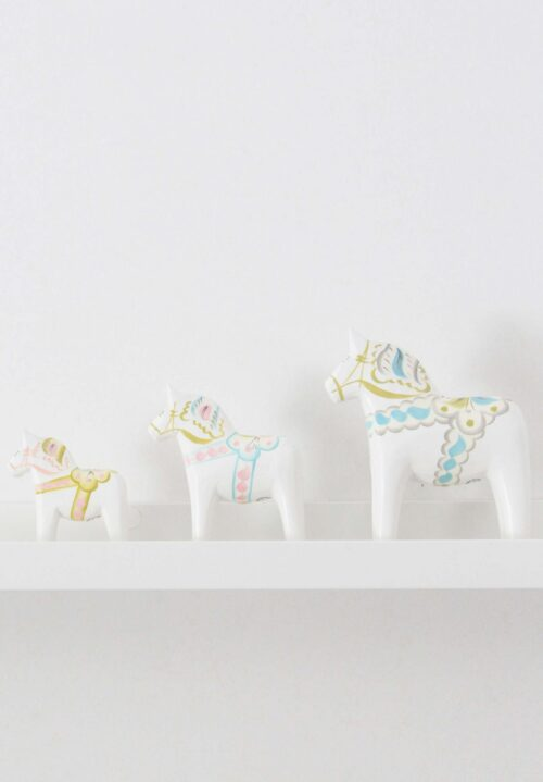 Pastel colored dala horse