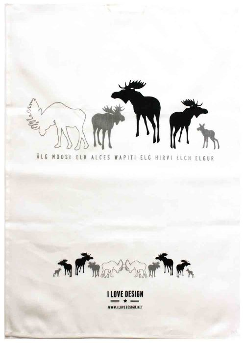 Tea towel moose