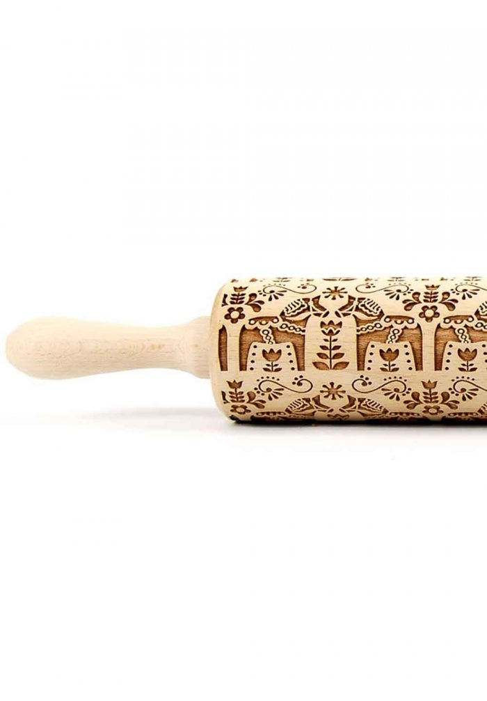 Wooden rolling pin cookies