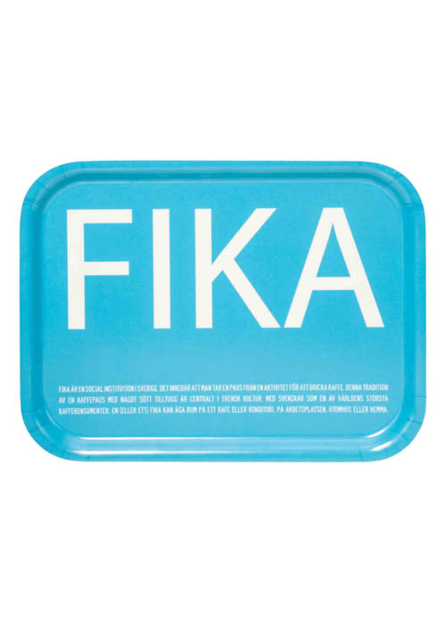 Dienblad Fika Turquoise 1 | The Swedish Gift Shop