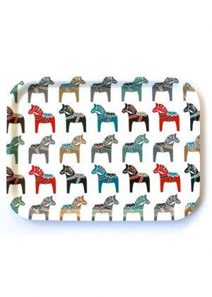 Tray dalarna horses