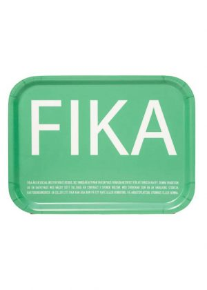 Bricka Fika - grön