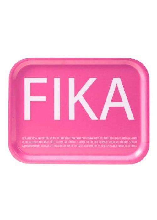 Fika tray pink