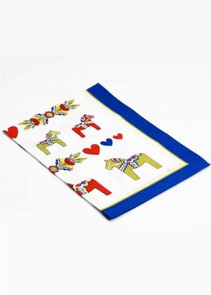 Dala horse tea towel