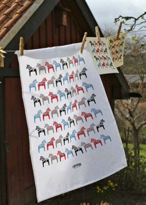 Dala horse kitchen towel
