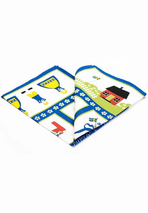 Tea towel Swedish symbols