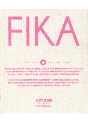 Geschirrtuch fika pink sweden