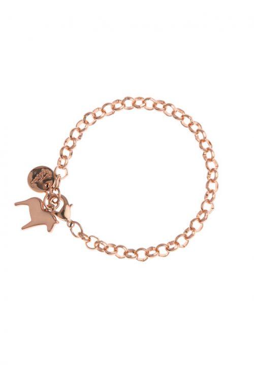 armband dala paard rosé