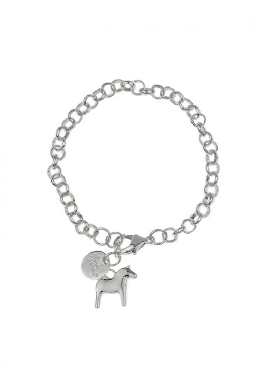 armband dala paard zilver