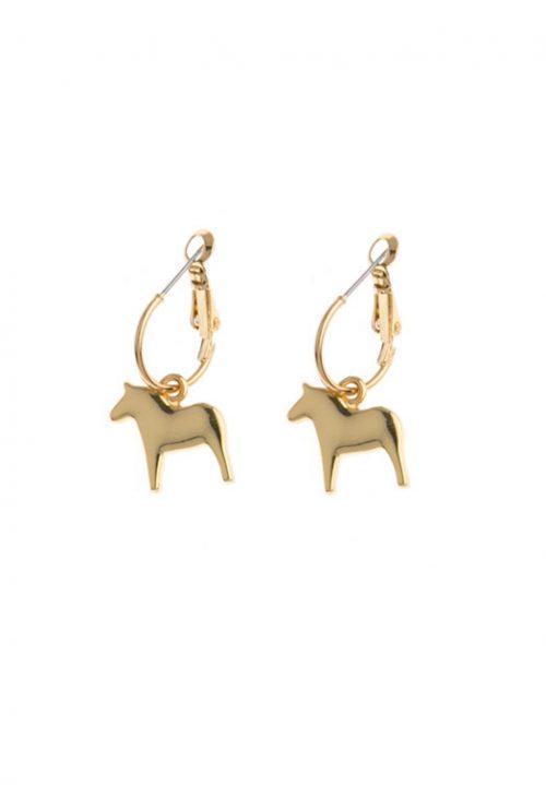 gouden oorhangers dala paard
