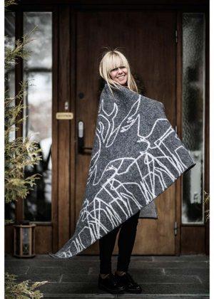 woolen blanket reindeer