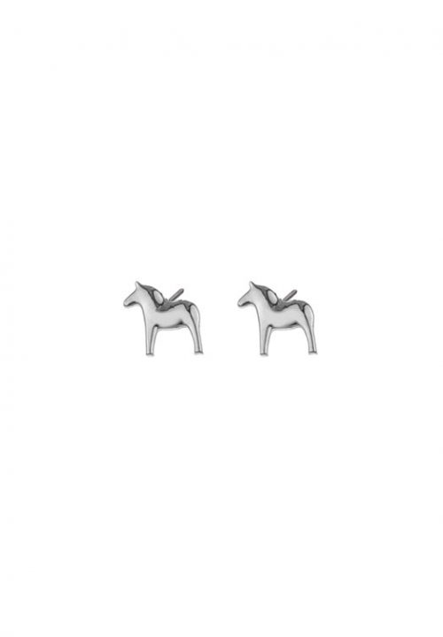 silver earrings dala horse
