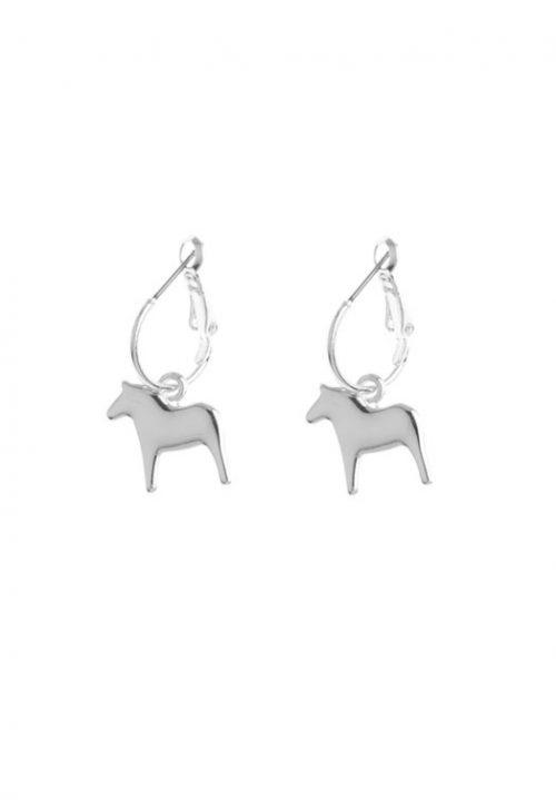 zilveren oorhangers dala paard