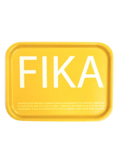 Fika tray yellow