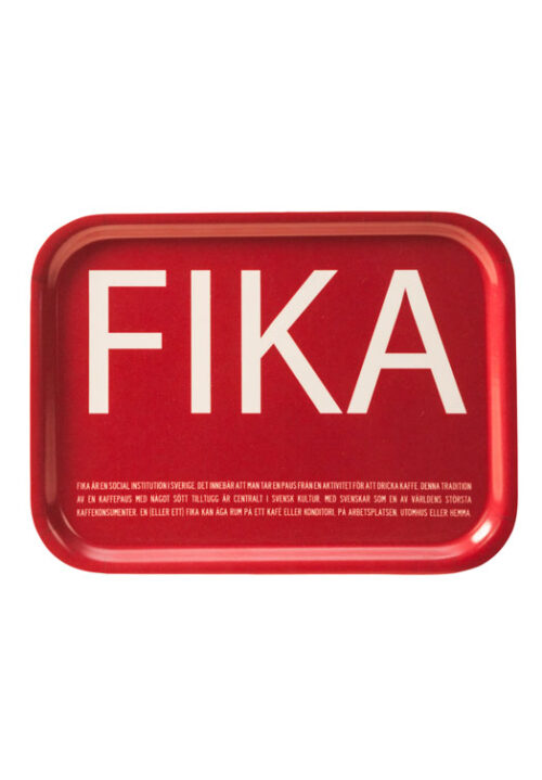 Fika tray red
