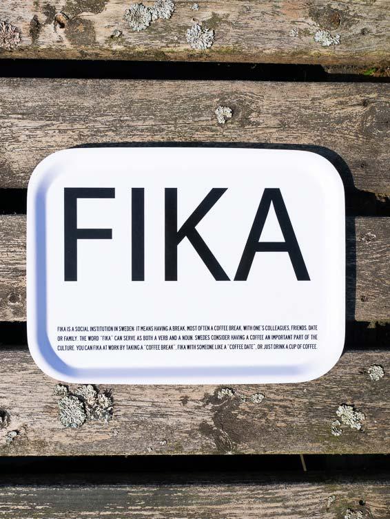 Fika tray white