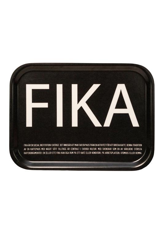 Fika tray black