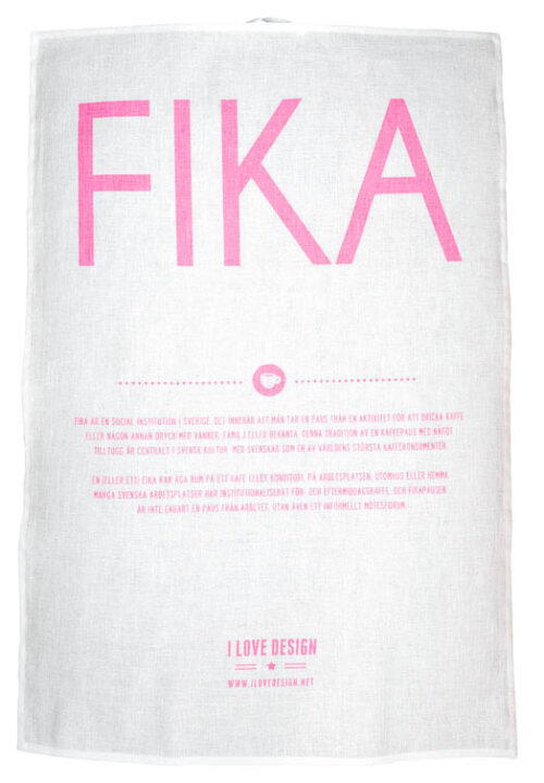 Fika Tea towel Pink