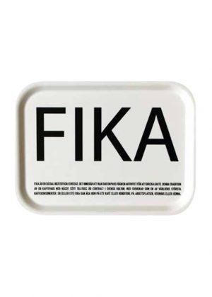 Bricka Fika - curly vit