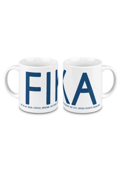 Fika mug blue