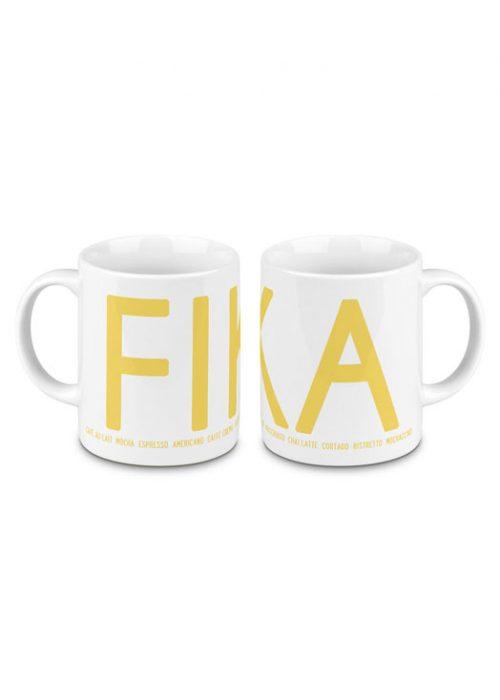 Fika mug yellow