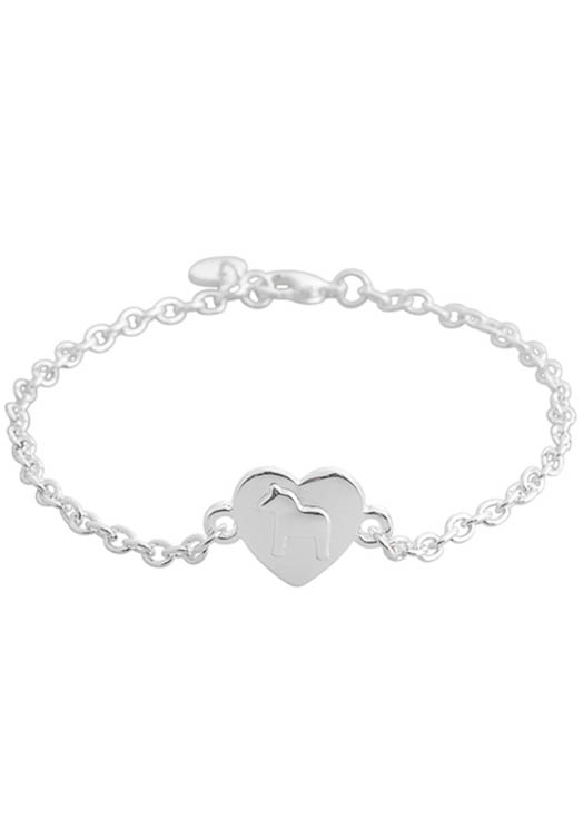 Armband dala paard hartje zilver | The Swedish Gift Shop
