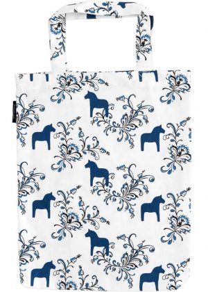 Dala horse kurbits blue carrier bag