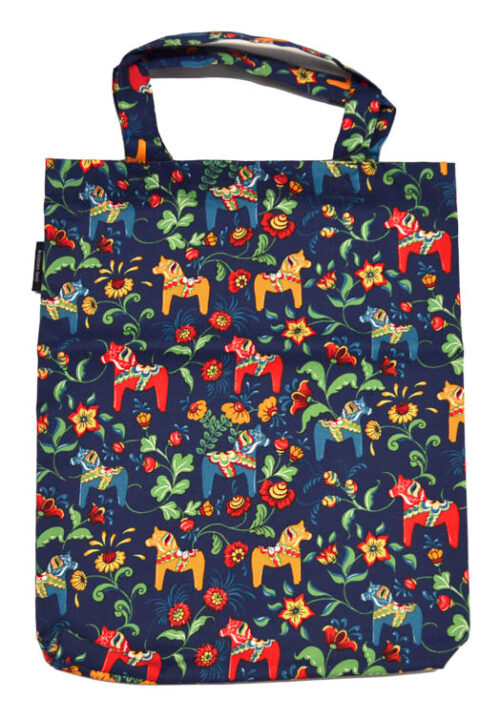Dala horse mini blue carrier bag