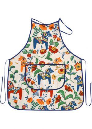 Kitchen apron - dala horse beige