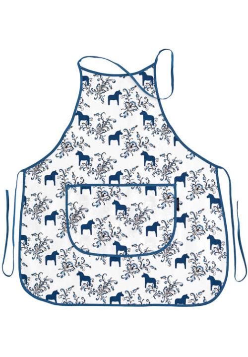 Küchenschürze Dalapferd kurbits blau