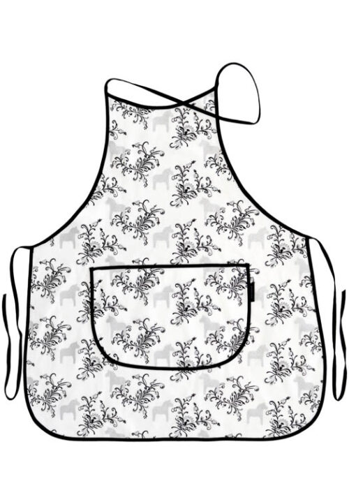 Küchenschürze Dalapferd kurbits grau