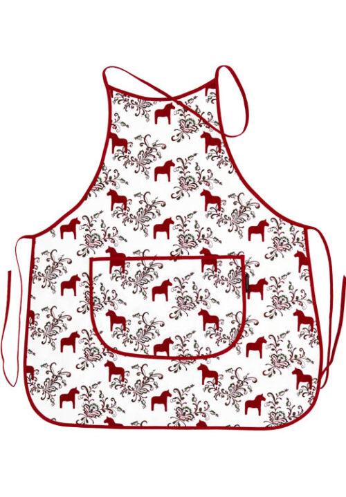 Küchenschürze Dalapferd kurbits rot