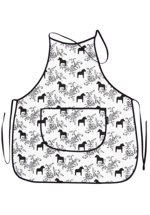 Küchenschürze Dalapferd kurbits schwarz