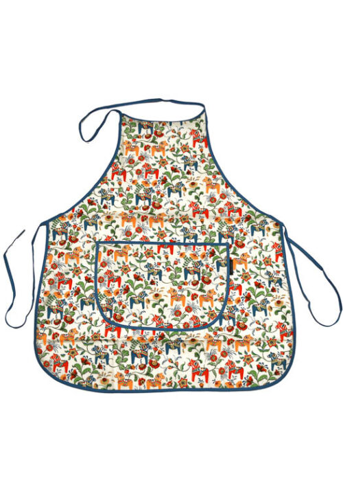 Kitchen apron - dala horse mini beige