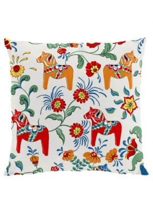 Dala horse beige cushion cover