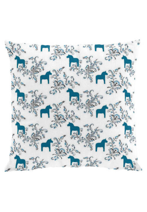 Dala Pferd kurbits blauen Kissenbezug