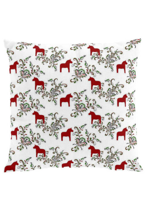 Dala horse kurbits red cushion cover