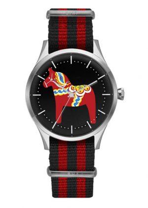 Dala häst armbandsur röd