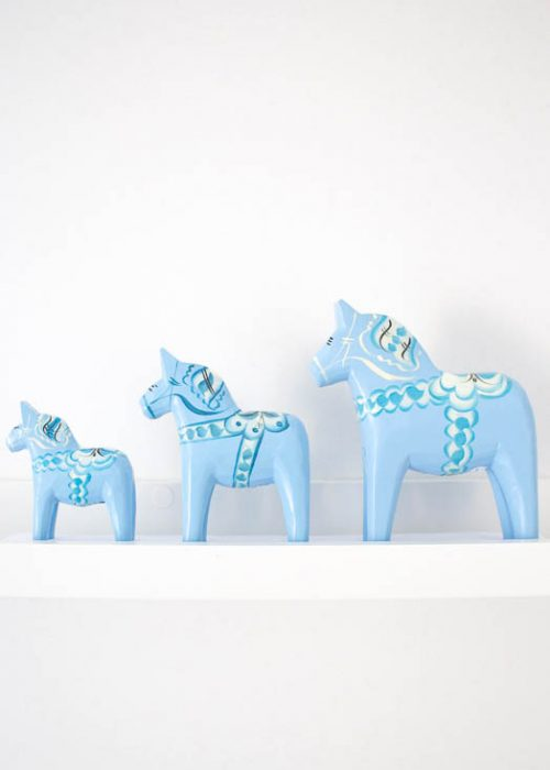 Dala paard blauw