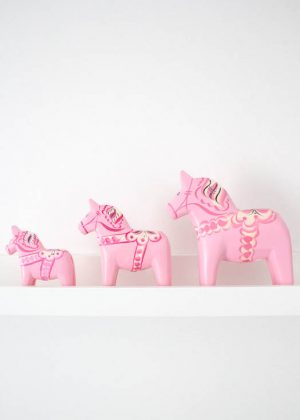 Pink dala horse for sale