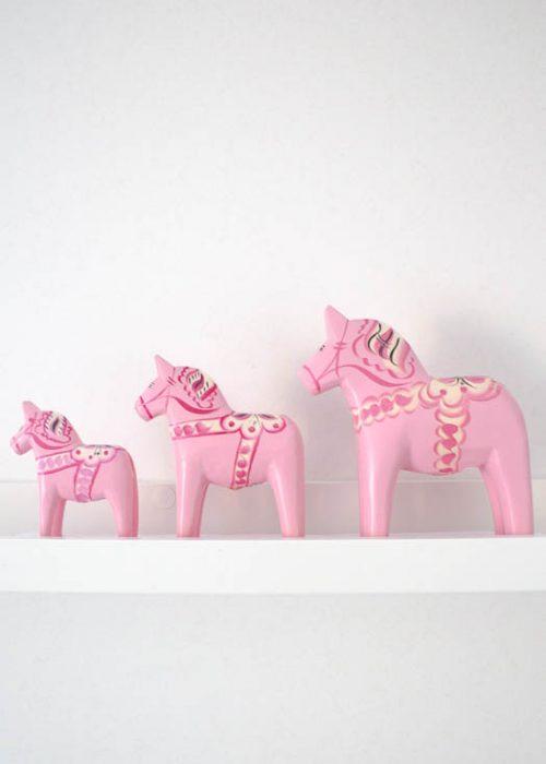 Dala paard roze