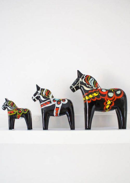 Dala paard zwart