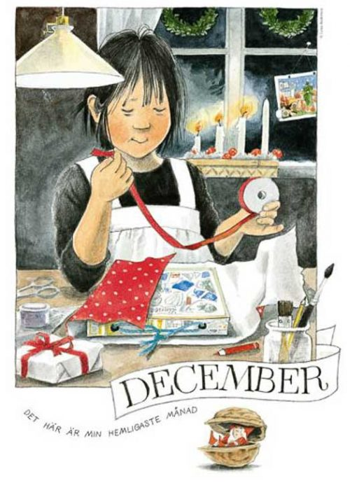 Linnea maandposter Lena Anderson december