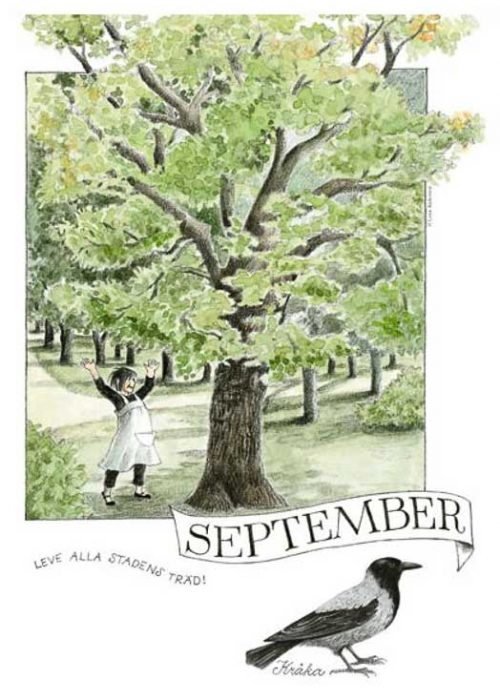 Linnea monthly poster Lena Anderson September