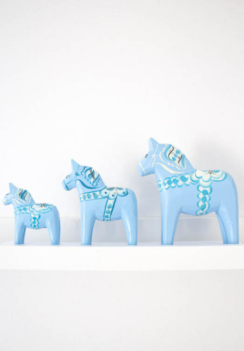 Light blue dala horse for sale