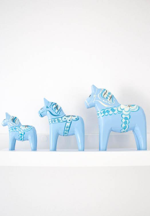 Ljusblå dalahäst